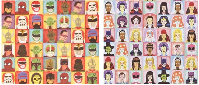 Heroes and Villans Gift Wrapping Paper